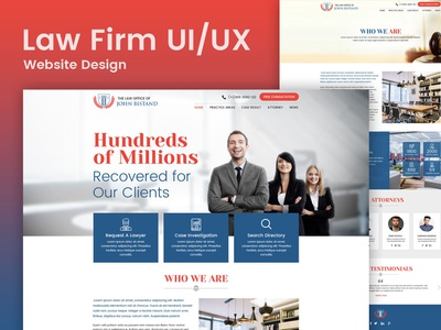 Law Firm Website Template law firm lawyer law template law ui website template website design