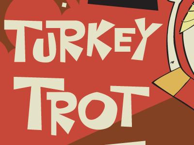 2014 Turkey Trot, Poster Version thanksgiving turkey trot postcard seattle