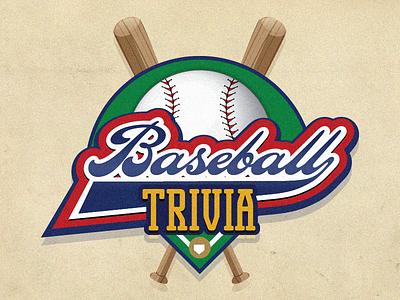 Baseball Trivia badge crest illustration trivia baseball