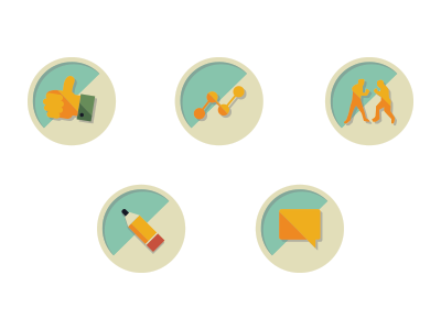 Vintage Icons & Welcome Email for New Users illustration vintage icons