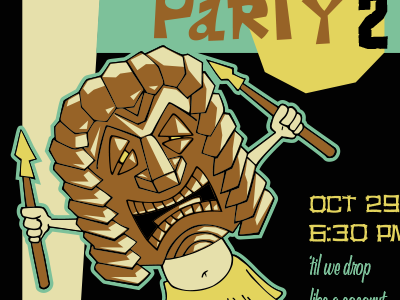 Mahalo-ween 2 (2016) retro tiki invite halloween