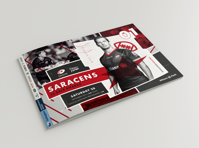 Saracens Matchday Programme Cover design Concept