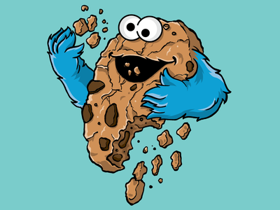 C is for Cannibalism illustration cookie sesame street cookie monster