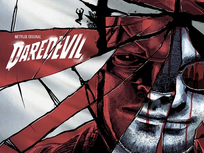 Daredevil Poster typography design illustration comics television netflix marvel poster daredevil