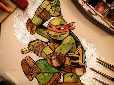 Michelangelo Watercolor Commission