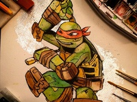Michelangelo Watercolor Commission
