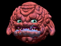 Kraang Madball Z-Brush Render