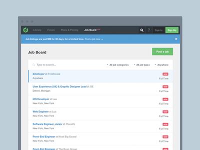 Treehouse Job Board