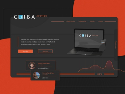 CHIBA Auction - UI / UX Landing page rework webdesign website web rework application auction ux  ui concept app