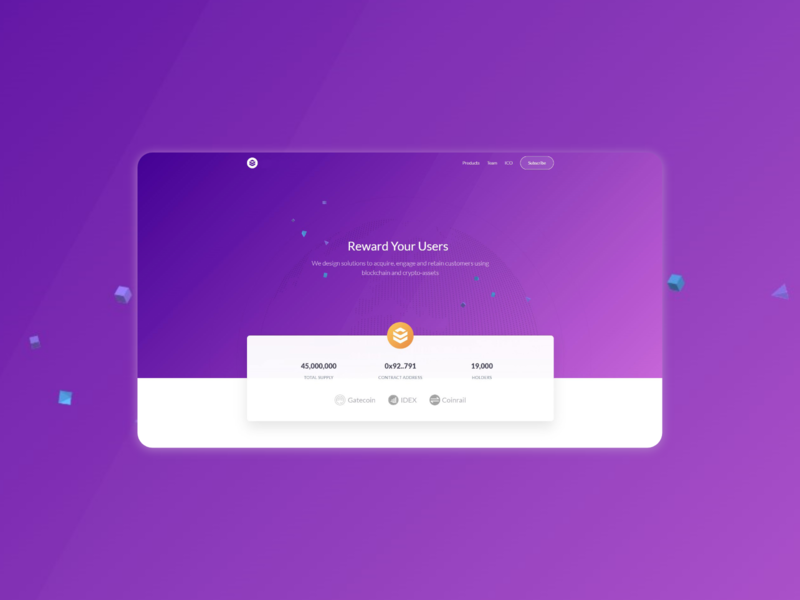 Landing page for a crypto service website flat design ui design for web saas web landing page