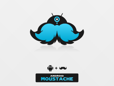 Android Moustache Blue