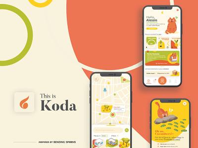 Koda - Designflows concept app animals koda apple bending spoons animal app pet app designflows 2020 designflows app design icon ui web ios guide app design design app adobexd ui coding code after effects adobe xd illustration contest