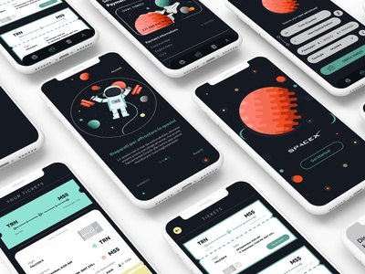 Space X App Concept creative direction creative design creativestudio creative invisionapp invision studio invision design app adobexd ui illustration contest coding code after effects adobe xd