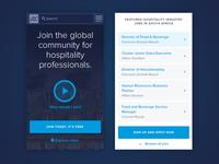 Hospitality Leaders Homepage Mobile