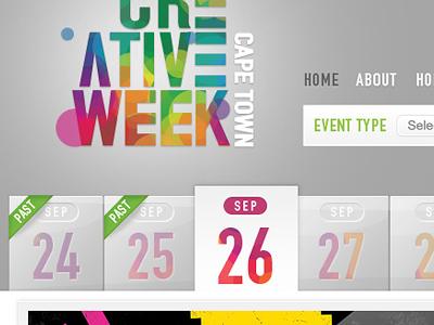Events website navigation navigation buttons website din din typeface