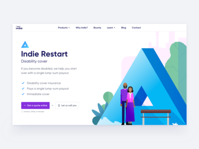 Indie Product Page Header