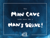 This man cave looks more like a man's grave!