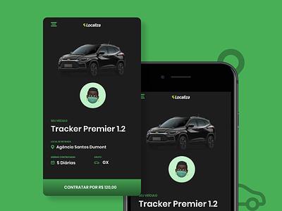 Car rental interface car app design ui