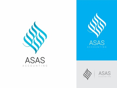 Asas - Accounting Logo Design asasaccounting managment tally accounts latest logo kufi diwaniarabiclogo branding logo design business accounting arabic logo ui vector arabic lettering branding asaslogodesign asas