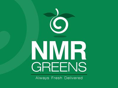 NMR Greens idenity fruits vegetables design logo branding