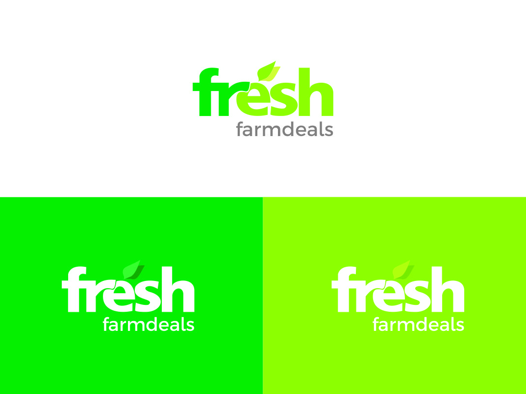 Fresh Farm Deals veggies freshfarms vegetables online store farming logodesign