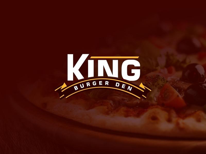 King Burger Den branding design logo design king burger burger den burger logo