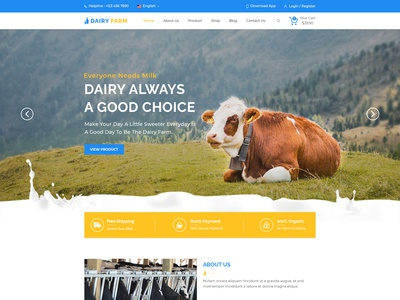 Dairy Farm Product Website Design
