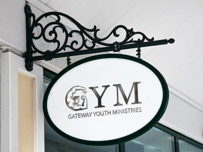 GYM (Gateway Youth Ministries) logo design