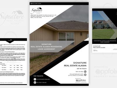 #web cover page design_signature Real Estate