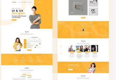 Portfolio Full - Page website design