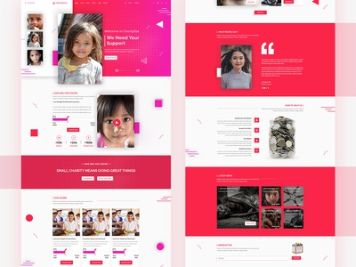 Charity Website Page design