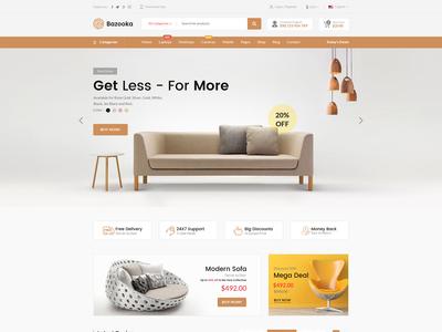 Furniture e-commerce Website Full Page Design