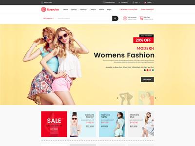 Fashion eCommerce website page design