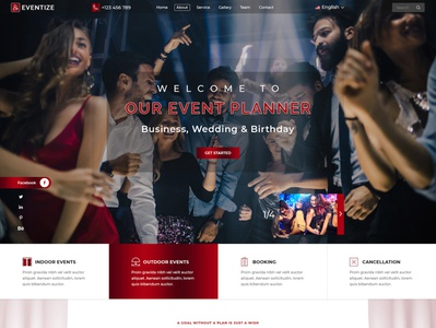 Event Management Website Page Design