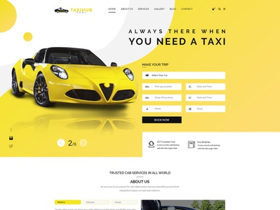 Taxi Booking Website Multi page UI/UX