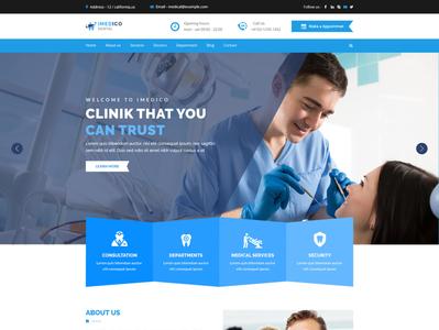 imedico Medical Dental Surgeon Clinic Website Homepage Design