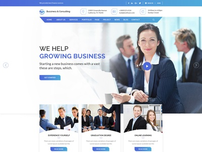 Creative Business and Consulting Web page