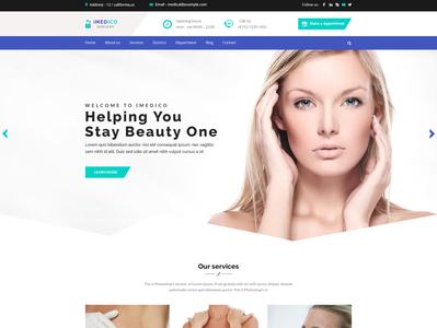 Surgery website UI design