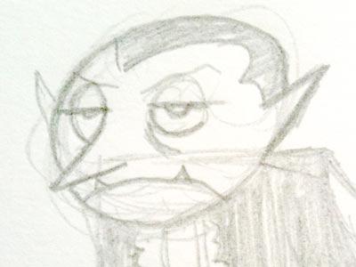 Dracula cartoon sketch character concept