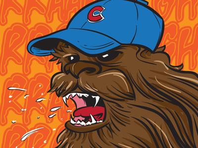 Chewbacca: Cubs Fan cartoon starwars