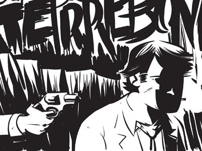 She Died in Terrebonne Final Inks comics cartoon