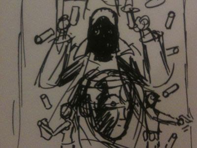 The Black Hood: Rough 2 roughs comics dc dc fifty-too