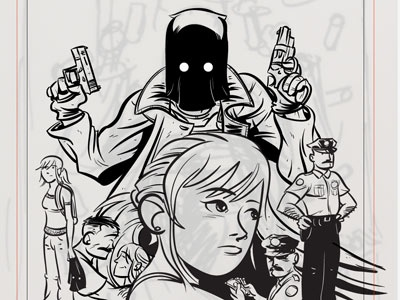 The Black Hood: Inks 2 comics cartoon dc dc fifty-too