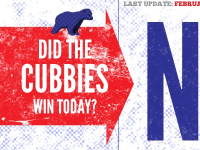 Did The Cubbies Win Today website baseball blog