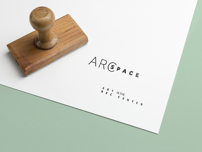 ARCspace | Branding art design pastel color event branding space branding typographic logo exhibition branding logo simple clean branding type stamp logotype identity design typography