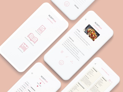App - Rezeptbar rezept responsive website design webdesign typography branding ux design ui design kochbuch logo design app