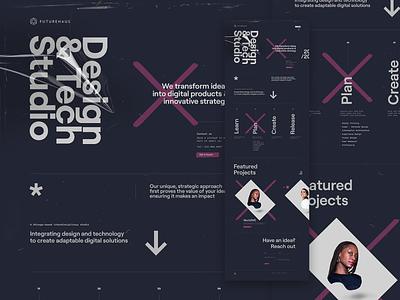 Futurehaus Brand and Website Redesign digital product design app development landing website ui ux webgl brand website design