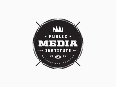 Public Media Institute Mark Studies logo mark typography seal