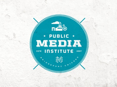 Public Media Institute mark circle seal teal