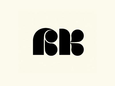 RK logo identity rk letter